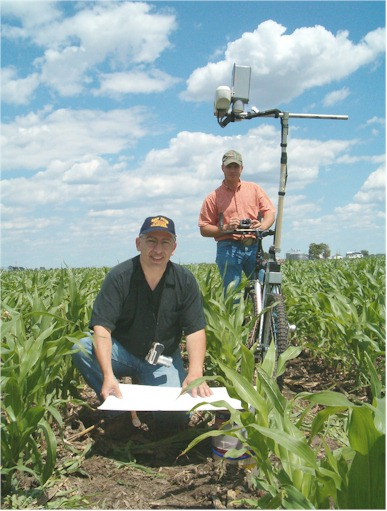 By-plant determination of NDVI using the GreenSeeker sensor near Shelton, NE