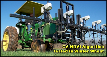 CV algorithm tested for variable N application in Winter Wheat