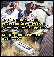 Dr. Norman Borlaug endores the GreenSeeker N Management Approach for wheat and corn production