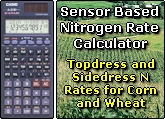 Sensor Based Nitrogen Rate Calculator, Topdress and Sidedress N rates for Corn and Wheat, Nitrogen management